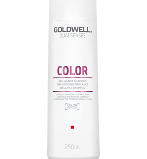 Bottle of shampoo for coloured hair