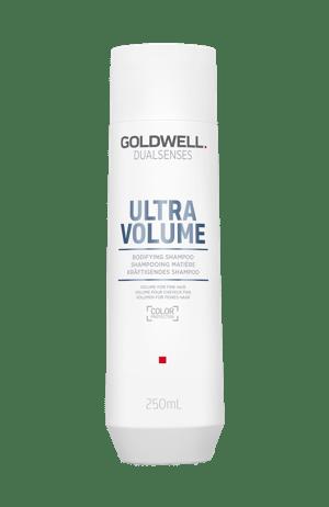 Bottle of volumising shampoo