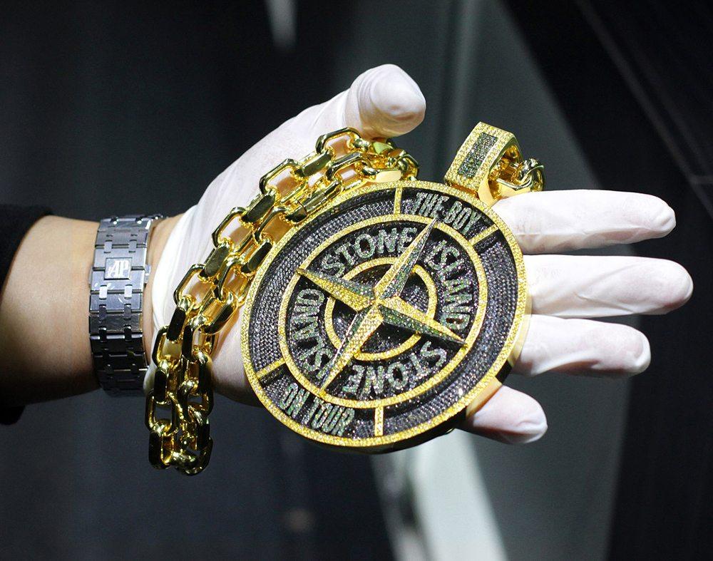 Drake's $100,000 Stone Island Pendant