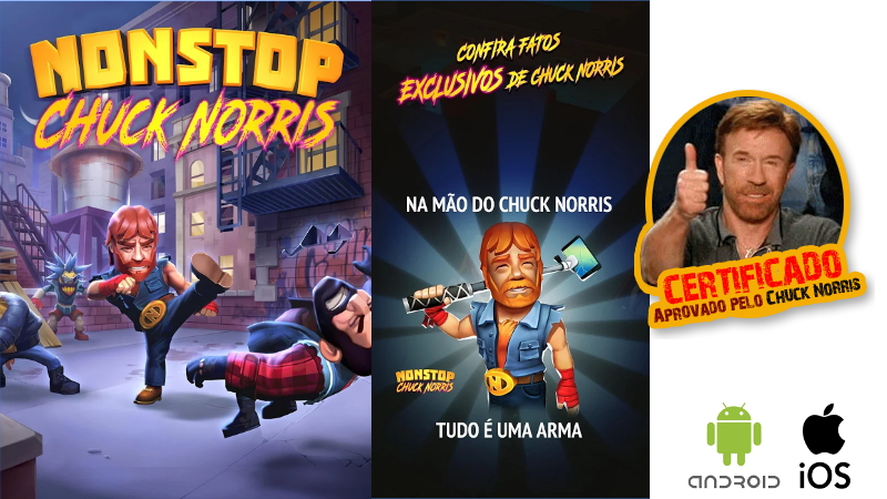 Jogo Nonstop Chuck Norris Android iOS