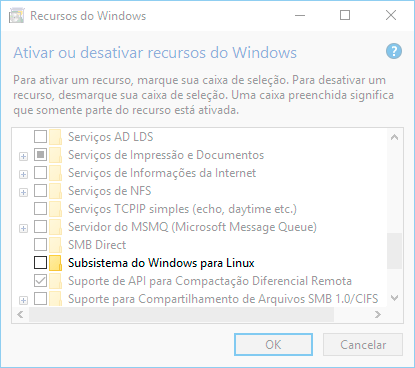 Janela Recurso do Windows