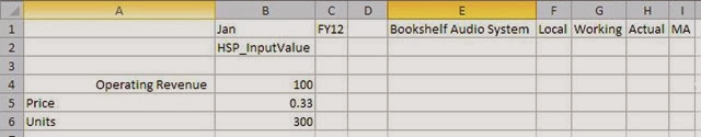 excel values
