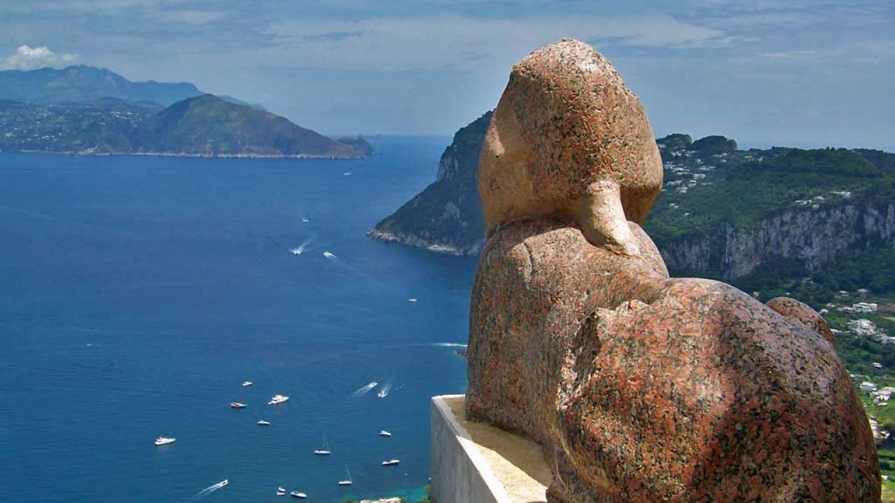 Capri Self Guided Tour Funicular Villa San Michele Molo Beverello