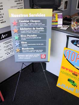 foam board and poster board signs