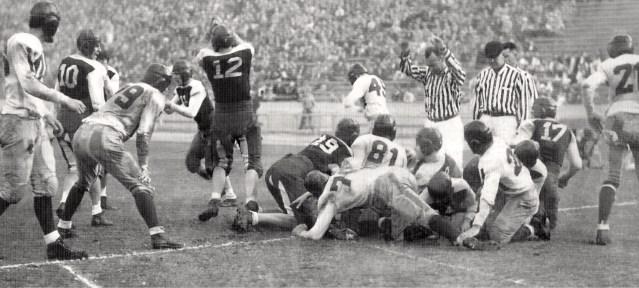 High school football, 1933.