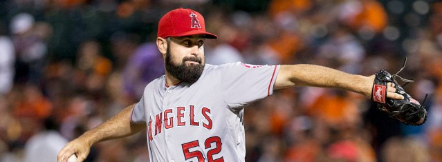 MATT SHOEMAKER pitched well but lost Sunday afternoon (Keith Allison photo).