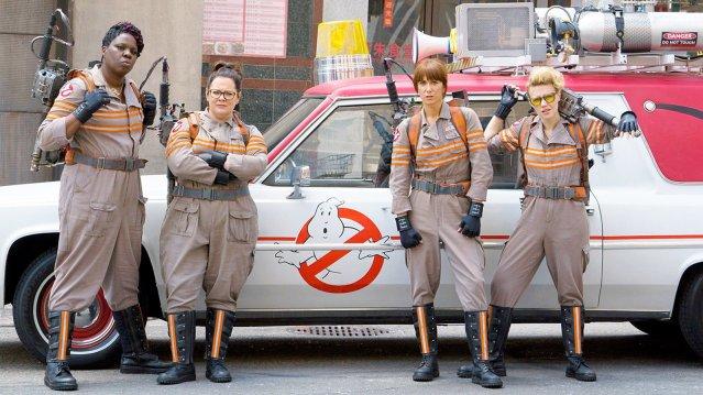 "THE NEW ""GHOSTBUSTERS"" movie stars Leslie Jones, Melissa McCarthy, Kristen Wiig and Kate McKinnon."
