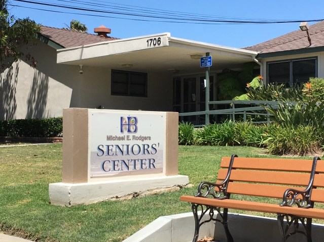 THE RODGERS SENIOR CENTER at Orange and 17th has been replaced by a new larger facility (OC Tribune photo).