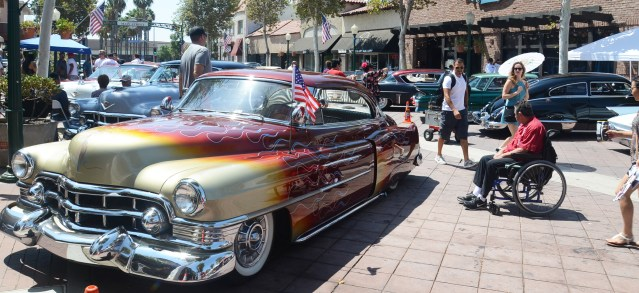 THE KING OF CADILLACS car show brought many classic Caddies to Main Street Garden Grove (OC Tribune photo).