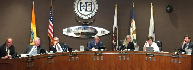 HUNTINGTON BEACH City Council voted 5-2 Monday night to continue a decision  on a plan to build two houses in the Davenport Marina area (OC Tribune photo).