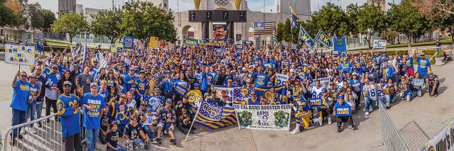 LOS ANGELES RAMS fans lobbied for years to bring the team back to Southern California and their dreams are now coming true.