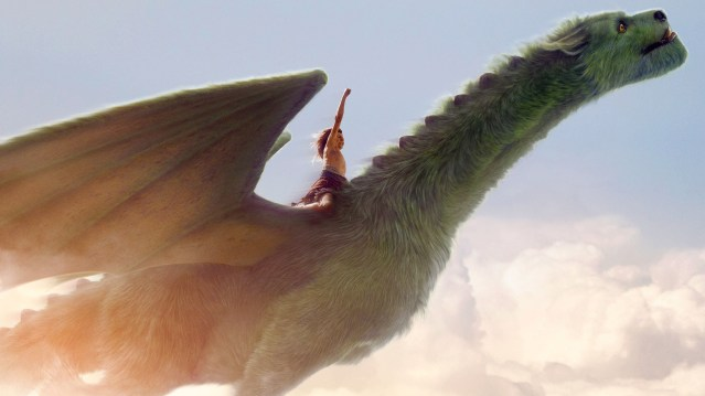 "PETE rides Elliot in ""Pete's Dragon"" from Disney."