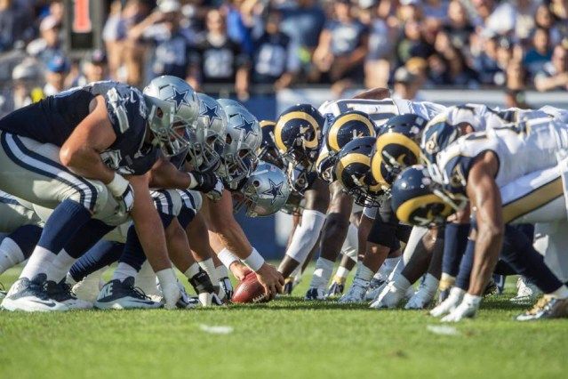 THE RAMS returned to L.A. Saturday and beat the Cowboys 28-24 in a pre-season game.