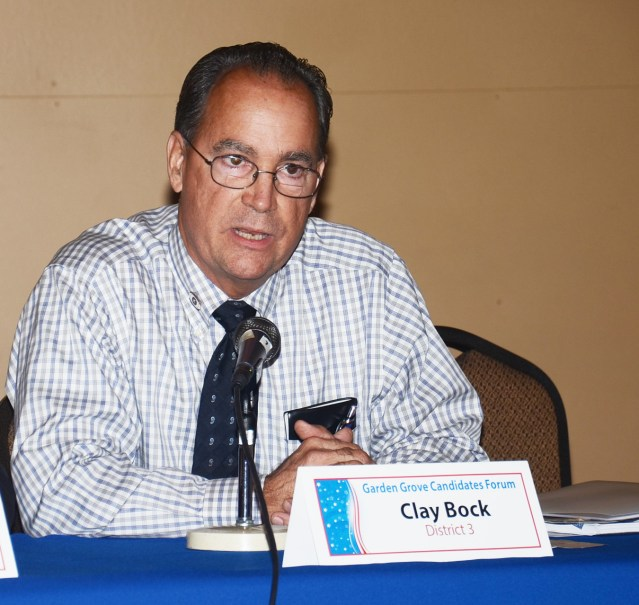 CLAY BOCK, candidate for Garden Grove City Council (OC Tribune photo).