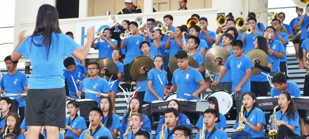 THE LA QUINTA Aztec band had plenty to about as the football team has won three of four games (OC Tribune photo).