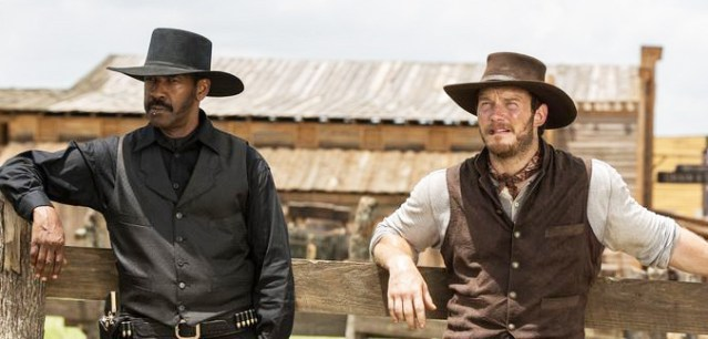 "DENZEL WASHINGTON and Chris Pratt star in the accidentally amusing remake of ""The Magnificent Seven."""