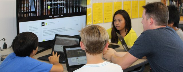THE i4 Blended Learning Initiative combines technology with flexibility (WSD photo).