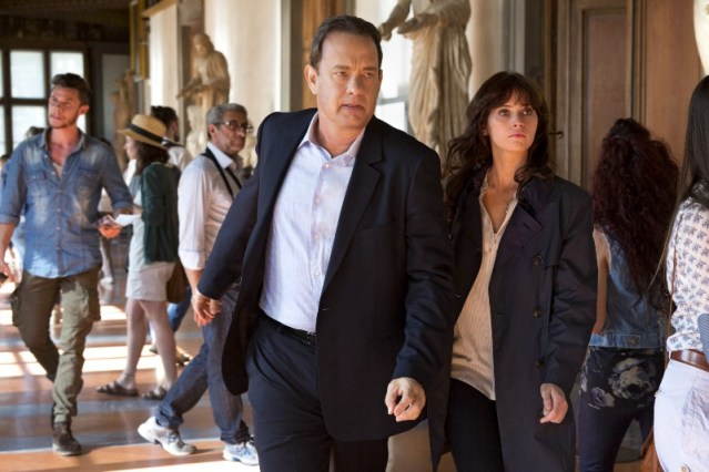 "TOM HANKS and Felicity Jones try to hold off a plague in ""Inferno."""