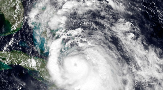 SATELLITE IMAGE of Hurricane Matthew (FEMA photo).