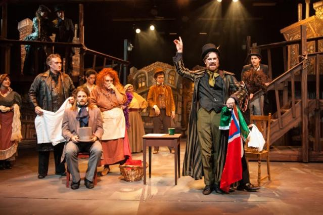 """""""Sweeney Todd: The Demon Barber of Fleet Street"""" on stage at the Gem Theater in Garden Grove (OMP Photo)."""