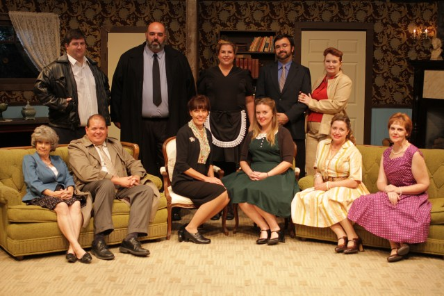 "THE CAST of ""A Murder Is Announced,"" now on stage at the Westminster Community Playhouse."