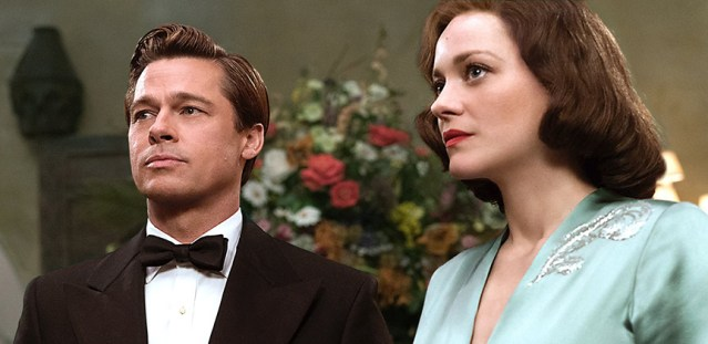 "BRAD PITT and Marion Cotillard star in ""Allied,"" a World War II action-romance-mystery film."
