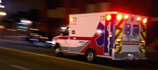 A MOTORCYCLIST was in critical condition after a traffic accident in Garden Grove Wednesday night.