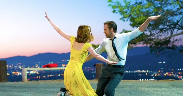 "EMMA STONE and Ryan Gosling star in ""La La Land."""