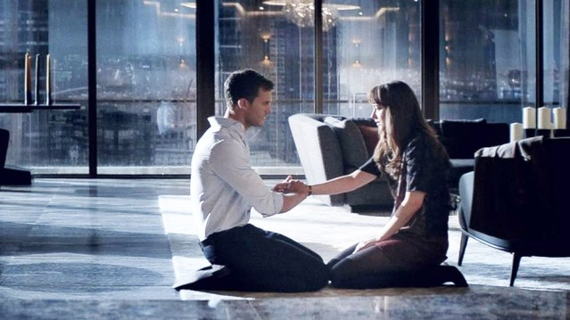 """FIFTY SHADES DARKER"" stars Dakota Johnson and Jamie Dornan in a sequel opening Friday."