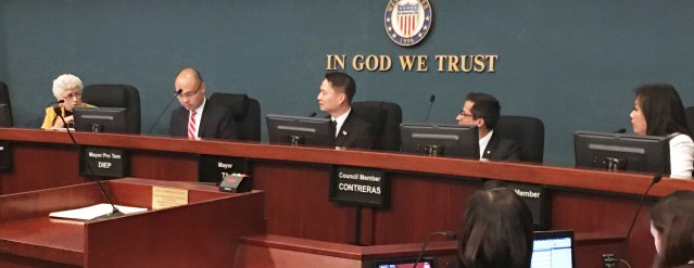 WESTMINSTER CITY COUNCIL debates plan to tackle homelessness (OC Tribune photo).