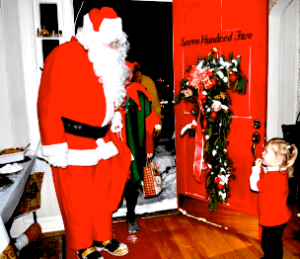A file photo from a previous Santa's Helper visit. Little Cindy Lou Who is probaby 8 years old now.