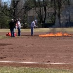 Bizarre Attempt To Dry A Ballfield