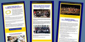 Writes, edits and designs the BHS Orchestra Booster Club Newsletter, SY 2016-2019 using Mailchimp to design, edit and build an audience