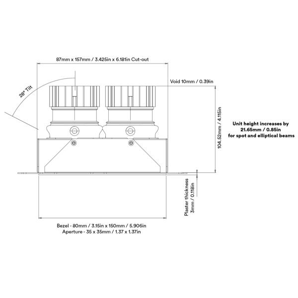 Nikko Twin Adjustable Trimless LED Downlight
