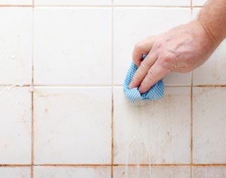 cleaning mold and mildew in bathroom   orange mold