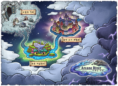 Arcane River Map