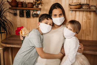 family in masks