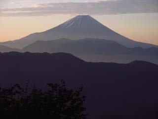 転付峠より富士山