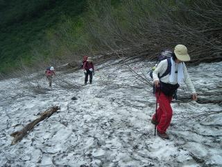 涸沢下雪渓