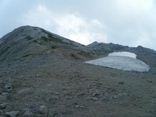 硯ヶ池と別山北峰