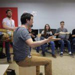 Rythme Signé percussions au lycée Saint-Louis (Saint-Nazaire) avec Gwenael Dedonder de Sysmo 3
