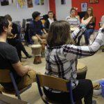 Rythme Signé percussions au lycée Saint-Louis (Saint-Nazaire) avec Gwenael Dedonder de Sysmo 11