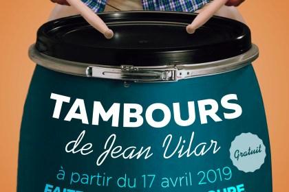 Tambours de Jean Vilar - à partir du 17 avril 2019 faites partie d'un groupe de percussion