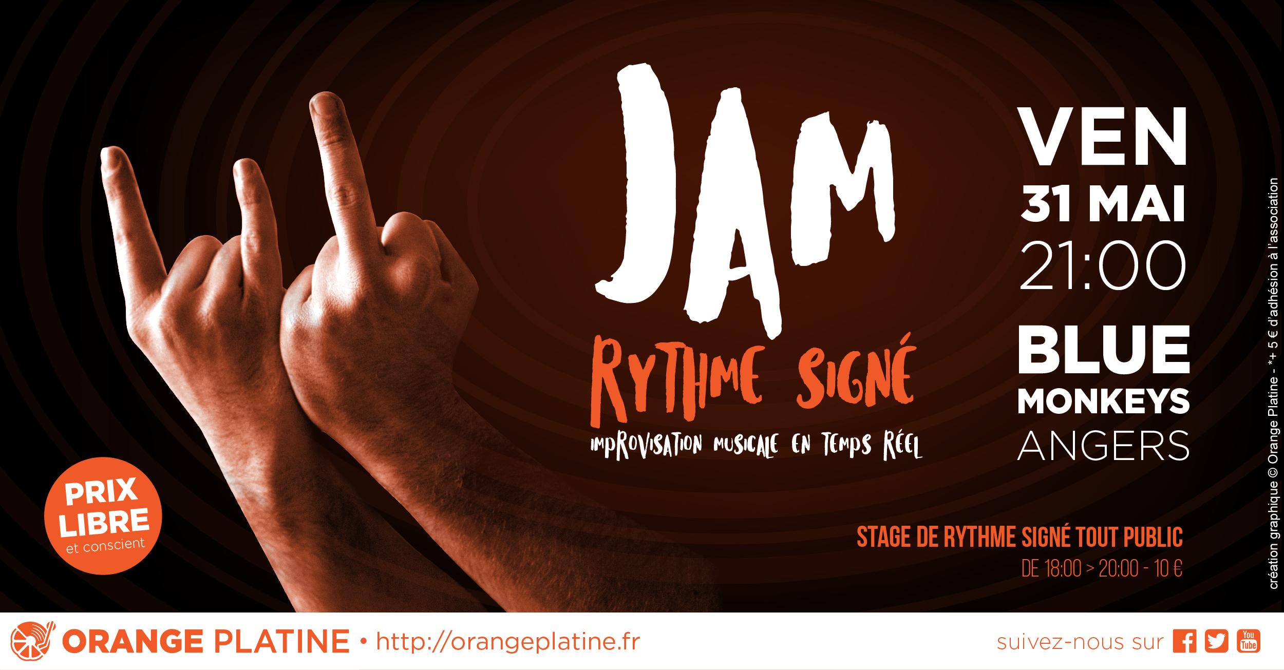 Jam Rythme Signé - Blue Monkeys 190531