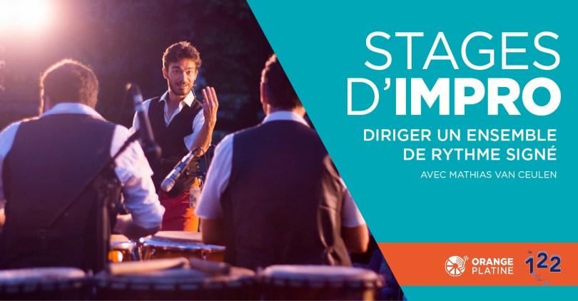 Stage impro direction rythme signé - Mathias Van Ceulen