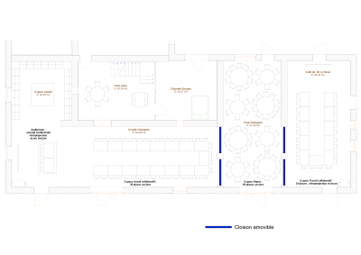 Plan grande salle reunion repas