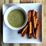 Chipotle sweet potato fries with Chimichurri aioli