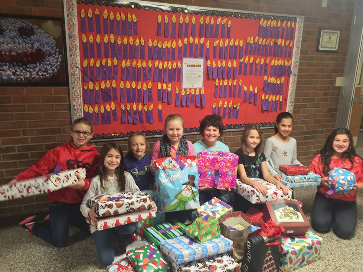 Race Brook School's Families Donate Gifts to Less Fortunate Children