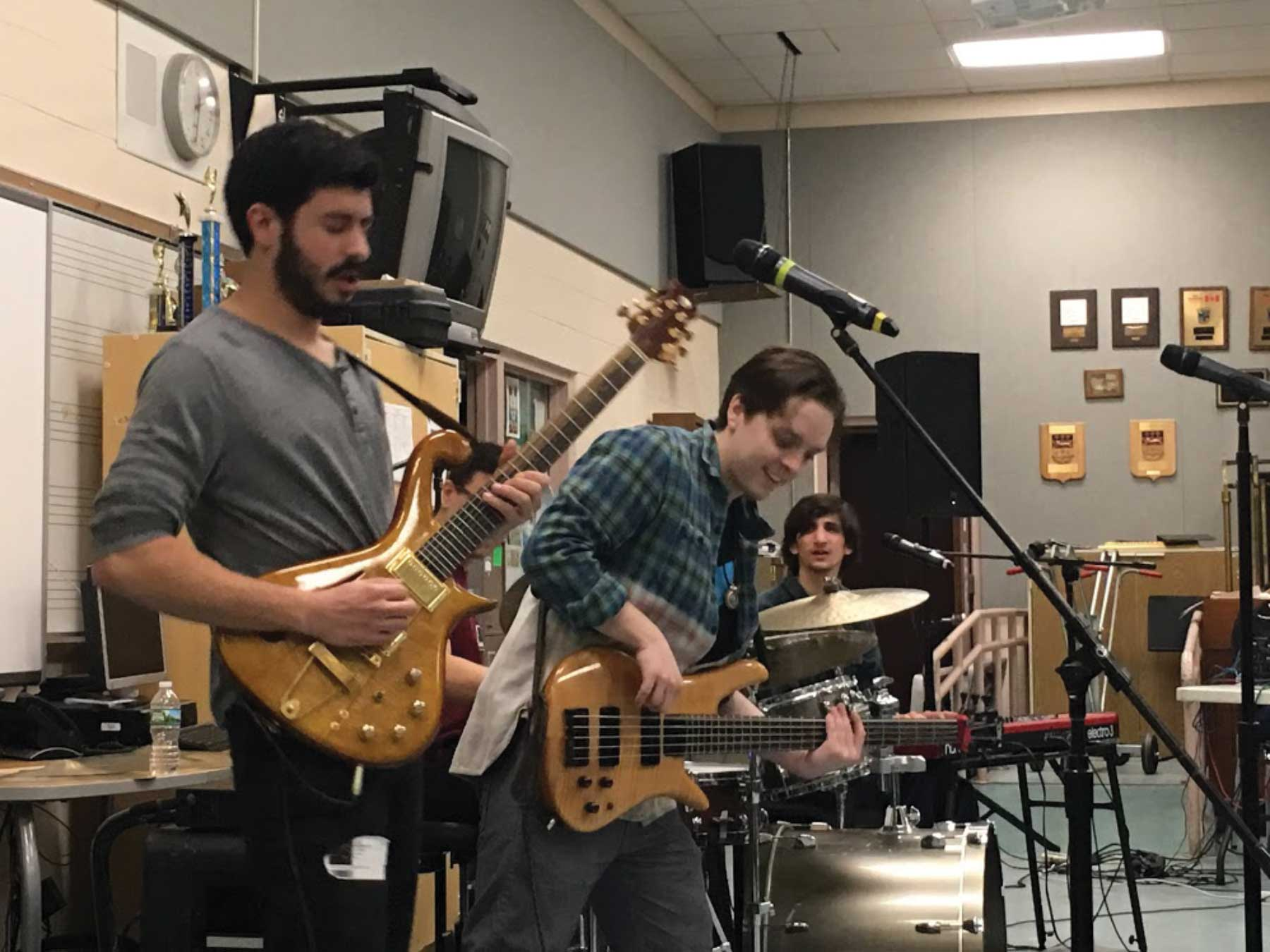 Rock Band EGGY Visits Amity High School