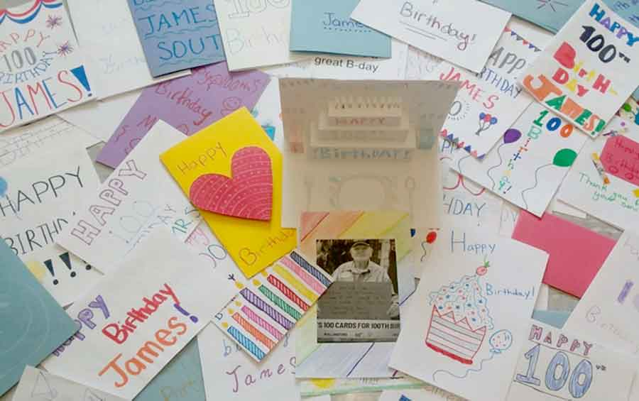 100 Cards For 100 Years From Amity Middle School in Orange